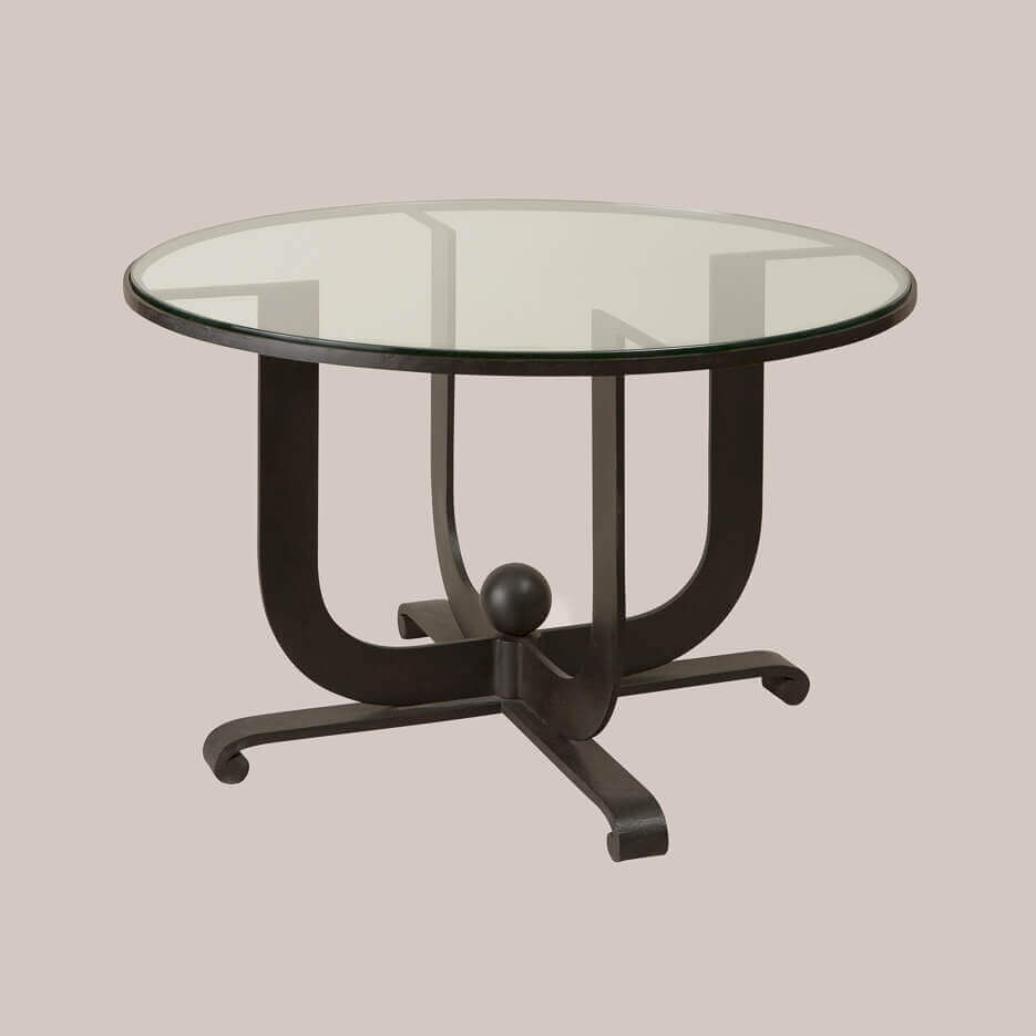 6151-R Art Deco Round Side Table - Paul Ferrante
